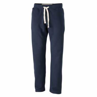Heren navy trainingsbroek vintage
