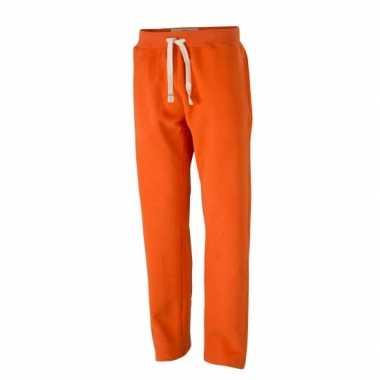Heren oranje trainingsbroek vintage