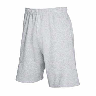 Heren short grijs