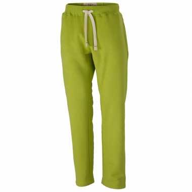 Lime heren trainingsbroek vintage