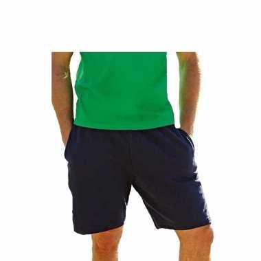 Navy blauwe shorts / korte trainingsbroek voor heren