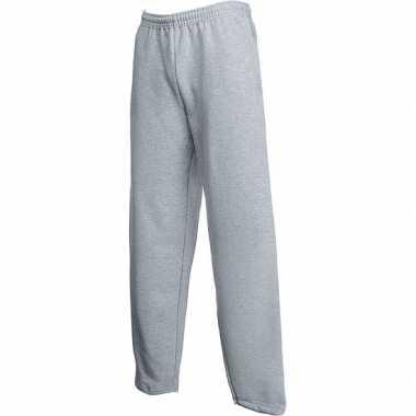 Trainingsbroek fruit of the loom grijs open leg voor volwassenen