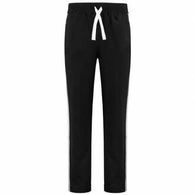 Trainingsbroek/sportbroek zwart met streep voor heren