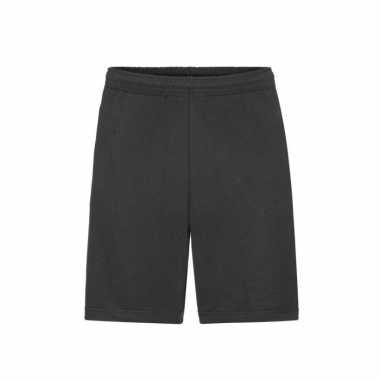 Zwarte shorts / korte trainingsbroek voor heren